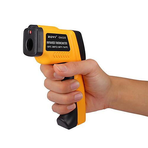 Zoyi gm320 ручной цифровой лазерный жк-дисплей ик-инфракрасный термометр -50 до 380 градусов автоматический датчик температуры датчик пистолет bz фото