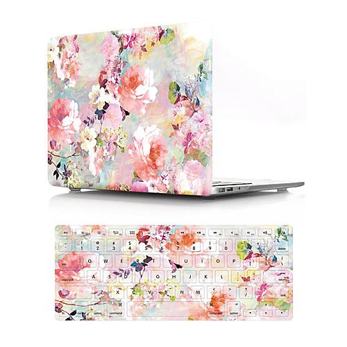 Комбинированная защита Цветы ПВХ для MacBook Air, 13 дюймов / Новый MacBook Pro 13
