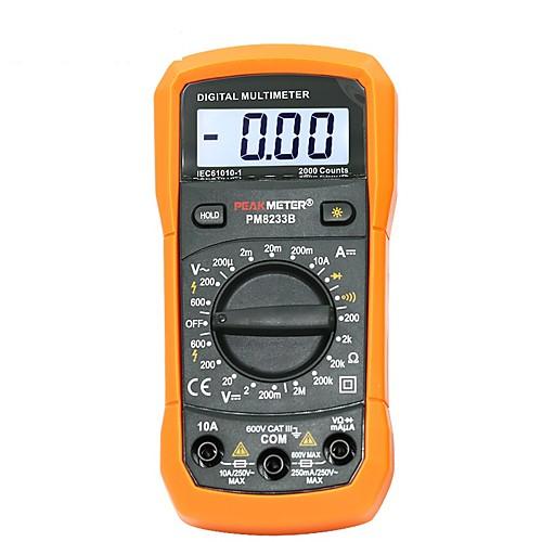 Цифровой мультиметр тестер 2000 отсчетов ЖК-дисплей мультиметр постоянного тока переменного тока частота вольтметра портативный тестер pm8233d фото