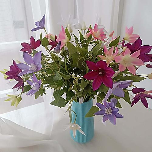 Искусственные Цветы 1 Филиал Классический европейский Простой стиль Сирень Вечные цветы Цветы на стену
