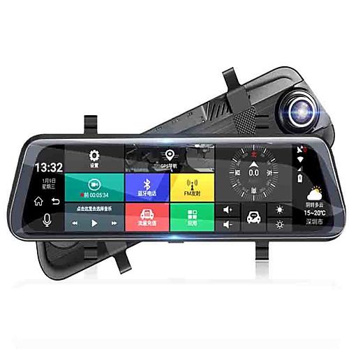 Полный экран потокового мультимедиа зеркало заднего вида автомобильный видеорегистратор 140 градусов широкоугольный 10-дюймовый видеорегистратор с Wi-Fi / GPS / ночного видения автомобильный рекордер фото