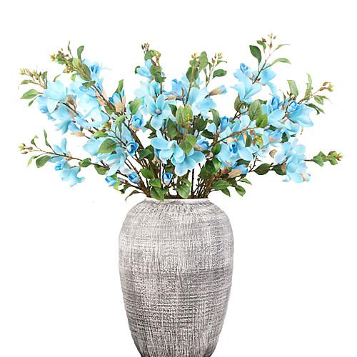 Искусственные Цветы 1 Филиал Классический европейский Простой стиль Орхидеи Вечные цветы Букеты на стол