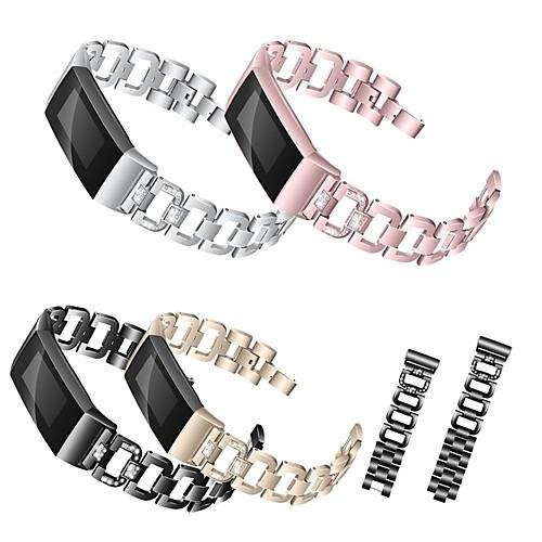 Ремешок для часов для Fitbit Charge 3 Fitbit Дизайн украшения Нержавеющая сталь Повязка на запястье фото