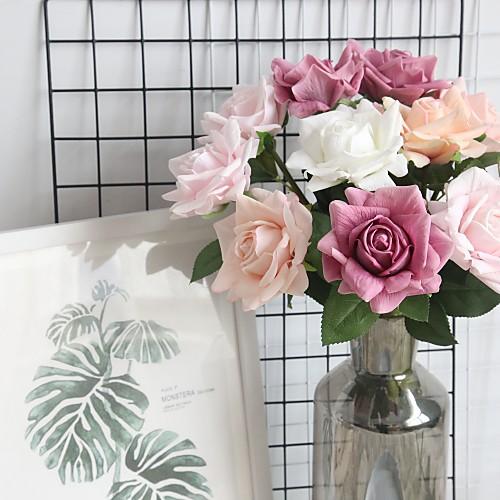 Искусственные Цветы 1 Филиал Классический Современный современный Розы Букеты на стол