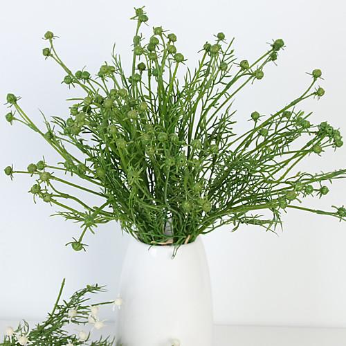 Искусственные Цветы 6 Филиал Классический европейский Простой стиль Pастений Вечные цветы Букеты на стол