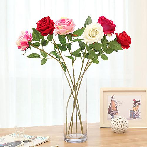 1 шт. Имитация розы одной рукой чувство увлажнения роза руки, держа розу рождественские бытовые цветы