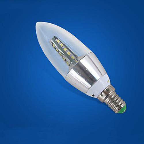 1шт 7 W LED лампы в форме свечи 310-410 lm E14 35 Светодиодные бусины Холодный белый 220-240 V