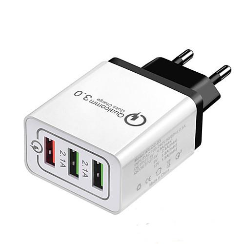 Dock Charger USB Charger EU Plug Multi-Output / QC 3.0 3 USB Ports 2.1 A 100~240 V for Universal