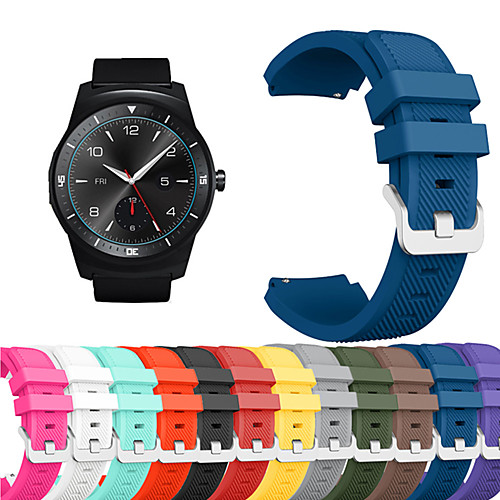 Ремешок для часов для LG G Watch W100 / LG G Watch R W110 / LG Watch Urbane W150 LG Спортивный ремешок силиконовый Повязка на запястье фото
