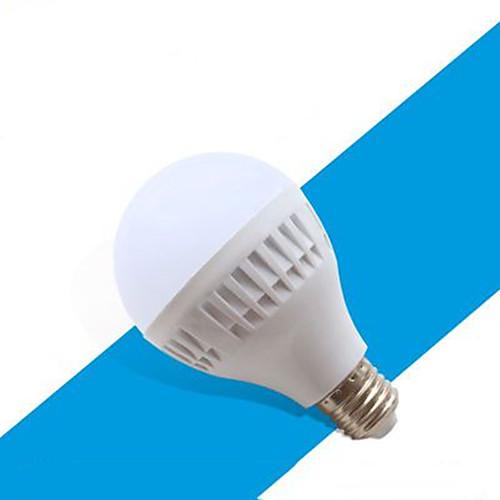1шт 12 W Круглые LED лампы 510-610 lm E26 / E27 24 Светодиодные бусины Холодный белый 220-240 V