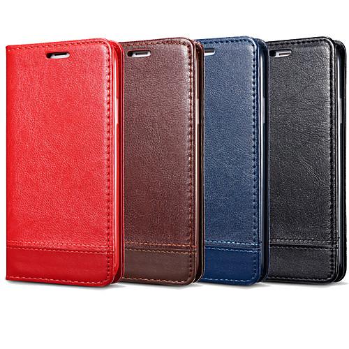 Кейс для Назначение SSamsung Galaxy Note 9 / Note 8 Бумажник для карт / Флип Чехол Однотонный Твердый Кожа PU для Note 9 / Note 8 / Note 5