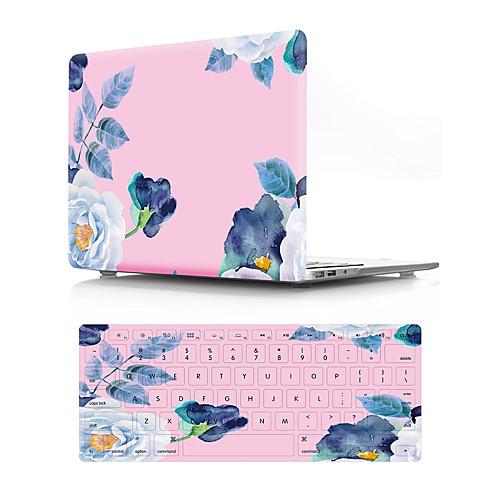 """Комбинированная защита Цветы ПВХ для MacBook Air, 13 дюймов / Новый MacBook Pro 13"""""""" / New MacBook Air 13"""""""" 2018"""