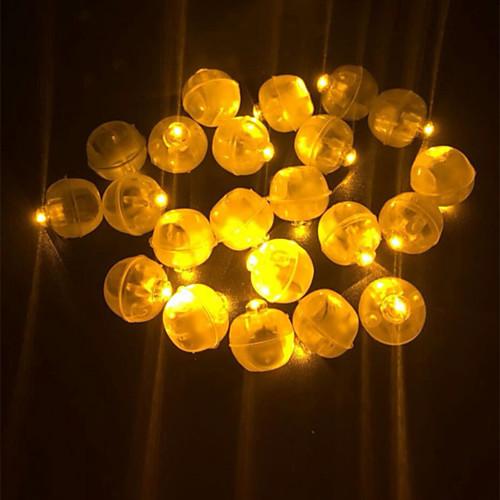 Новинка 50 шт. светодиодный мини-пластиковый круглый шар шар свет для бумажный фонарь воздушный шар ну вечеринку свадьба день рождения фестиваль декора фото