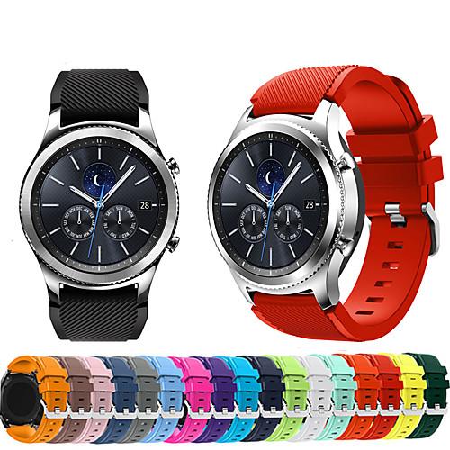 Ремешок для часов для Gear S3 Frontier / Gear S3 Classic Samsung Galaxy Спортивный ремешок силиконовый Повязка на запястье фото