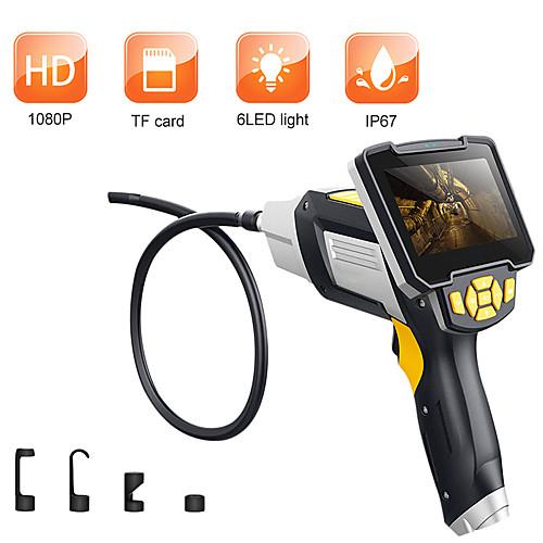 Цифровой эндоскоп, 1 м, змеиный трубопровод, промышленный эндоскоп, 4,3-дюймовый видеоскоп с жидкокристаллическим бороскопом и сенсором cmos, полужесткая камера для осмотра, ручной эндоскоп фото