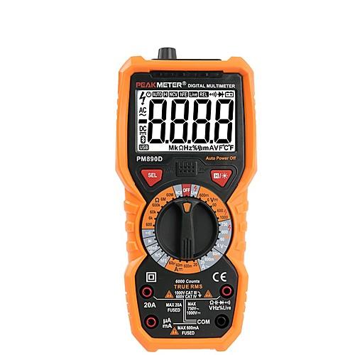 Цифровой мультиметр пикметр PM890D истинное действующее значение среднеквадратичного напряжения переменного / постоянного тока измеритель сопротивления PM890D Частота емкости Температура NCV тестер