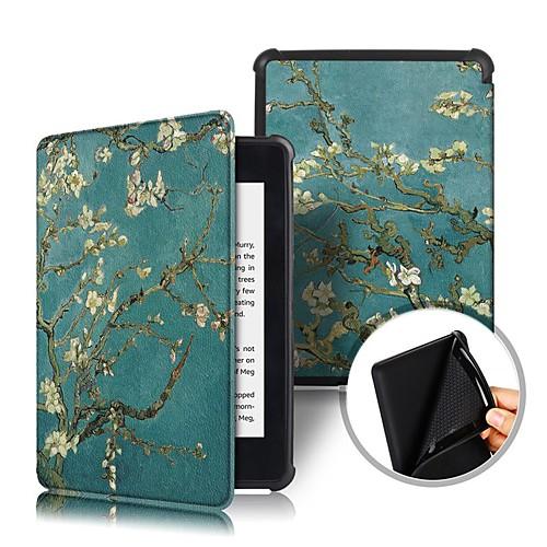 Кейс для Назначение Amazon Kindle PaperWhite 4 Защита от удара / Флип / Оригами Чехол Цветы Твердый Кожа PU для Kindle PaperWhite 4 2018
