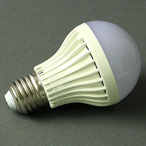1шт 5 W Круглые LED лампы 270-370 lm E26 / E27 18 Светодиодные бусины Активация звуком Холодный белый 220-240 V фото