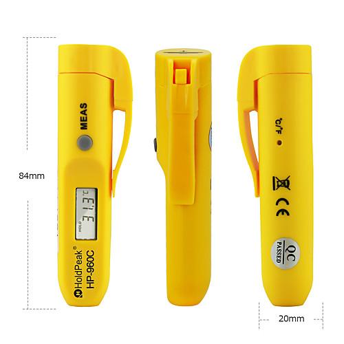 Цифровой портативный инфракрасный термометр-holdpeak 960c мини-термометр мгновенного считывания от -30 до 275 (от -22 до 527) бесконтактный инфракрасный термометр с автоматическим отключением питания фото