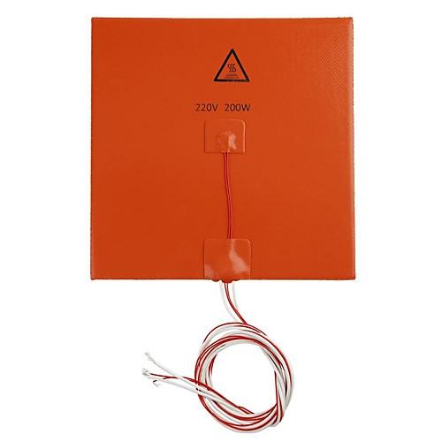 3d аксессуары для принтеров 200x200 мм 220 В 200 Вт силиконовая резина горячая кровать силиконовая грелка нагревательная пластина фото