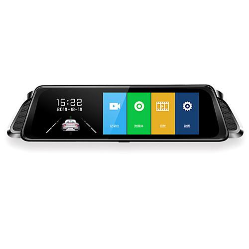 1080p HD / ночного видения автомобильный видеорегистратор полный сенсорный экран 10 дюймов потокового мультимедиа широкоугольный ips видеорегистратор с Wi-Fi / g фото