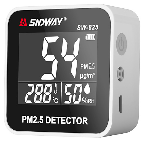 sw-825 цифровой монитор качества воздуха pm2.5 детектор тестер газоанализатор газоанализатор измеритель температуры и влажности диагностический инструмент