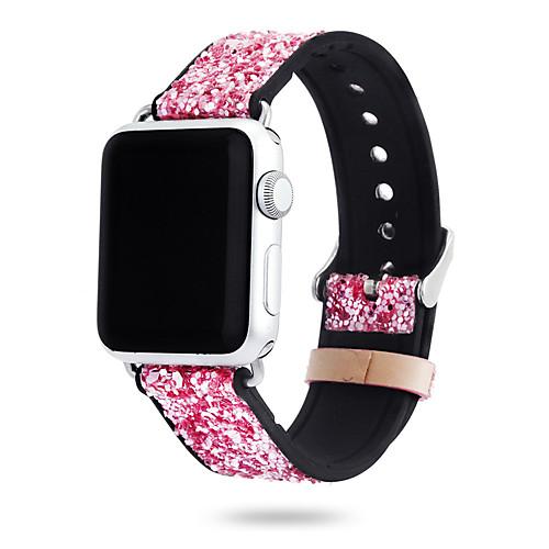Ремешок для часов для Apple Watch Series 4/3/2/1 Apple Современная застежка Нержавеющая сталь / Натуральная кожа Повязка на запястье
