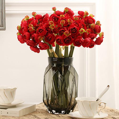Искусственные Цветы 6 Филиал Классический европейский Свадебные цветы Камелия Вечные цветы Букеты на стол