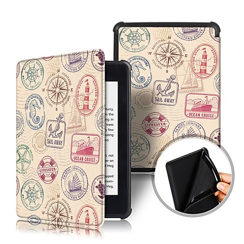 Кейс для Назначение Amazon Kindle PaperWhite 4 Защита от удара / Флип / Оригами Чехол Слова / выражения Твердый Кожа PU для Kindle PaperWhite 4 2018