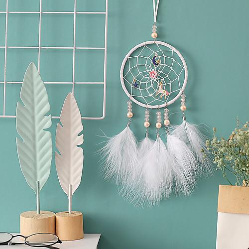Индийский стиль Ловец снов ручной работы колокольчиков подвеска Ловец снов стены искусства висячие украшения фото