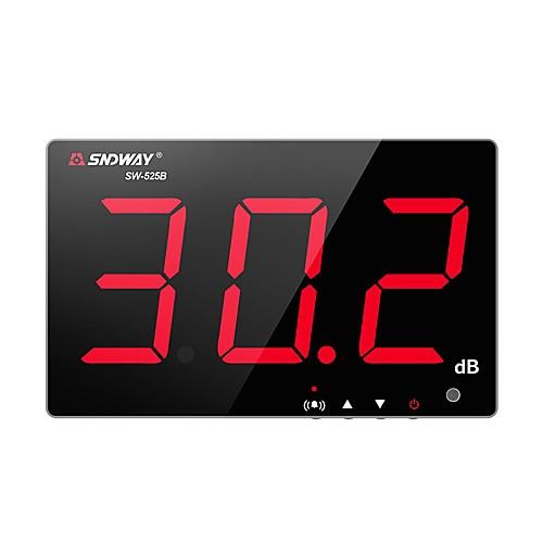 SW-525B цифровой измеритель уровня звука 30 ~ 130 дБ 3,0-дюймовый большой экран дисплей ресторан бар / офис / дома на стене шумомер sndway sw-525b