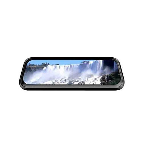 Ou shilan v1 1080p потоковое мультимедиа зеркало заднего вида автомобильный видеорегистратор 170 градусов широкоугольный 10-дюймовый ips-видеорегистратор с рекордером ночного видения фото