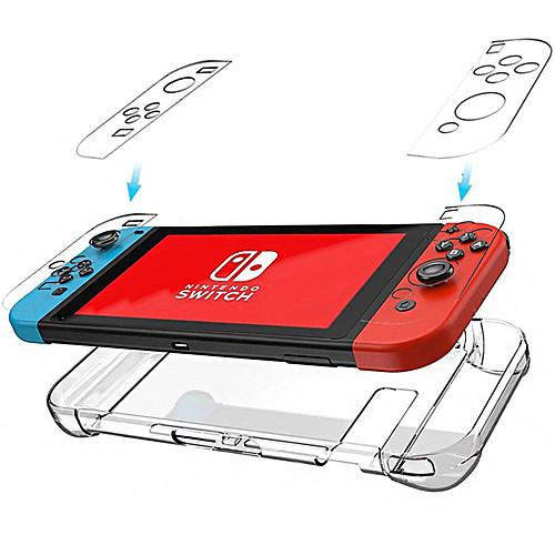 Cooho Nintendo Switch Прозрачный Кристаллический Корпус Хозяин Ручка Защитный Корпус NS Прозрачный Корпус ПК фото