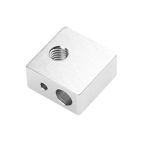 3d аксессуары для принтеров экструдер алюминиевый блок сопла алюминиевый блок 20 20 10 мм мк7 мк8 нагрев алюминиевый блок фото