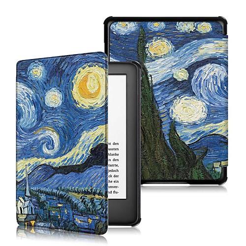 Кейс для Назначение Amazon Kindle Lite (2019) / Кобо Форма Защита от удара / Флип / Оригами Чехол Слова / выражения Твердый Кожа PU для Kindle Lite (2019) / Kindle PaperWhite 4 / Кобо Форма