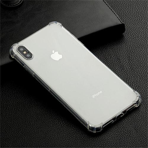 Кейс для Назначение Apple iPhone XS / iPhone XS Max Защита от удара / Прозрачный Кейс на заднюю панель Прозрачный Мягкий ТПУ для iPhone XS / iPhone XR / iPhone XS Max фото