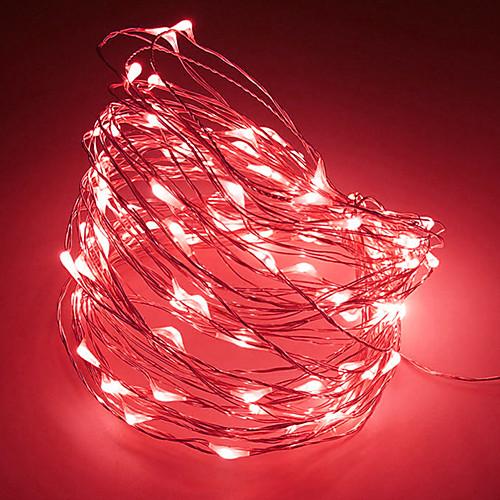 2м Гирлянды 20 светодиоды Тёплый белый / RGB / Белый Творчество / Для вечеринок / Декоративная Аккумуляторы 1шт фото