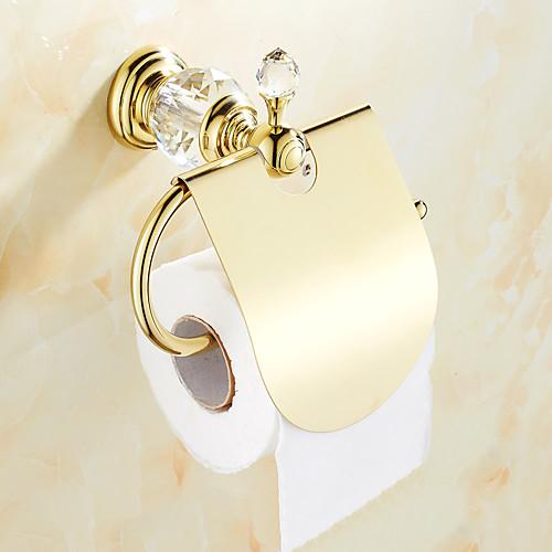 Держатель для туалетной бумаги Креатив Латунь 1шт На стену