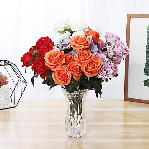 Искусственные Цветы 1 Филиал Односпальный комплект (Ш 150 x Д 200 см) Простой стиль Modern Суккулентные растения Букеты на стол