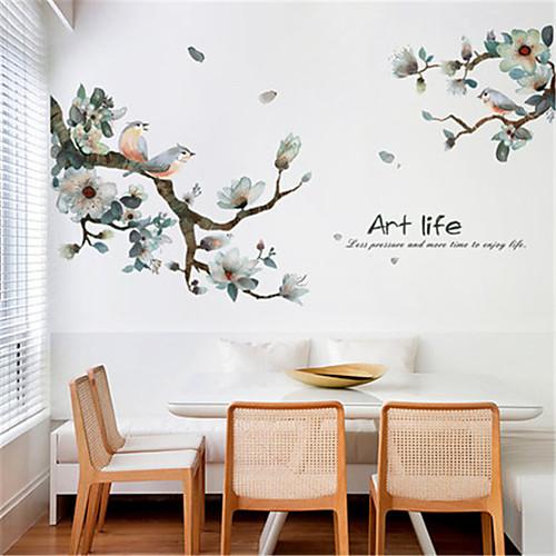 Новые китайские чернила и птица гостиная спальня обои самоклеящиеся тв фон украшения стены коридора крыльцо стикеры стены