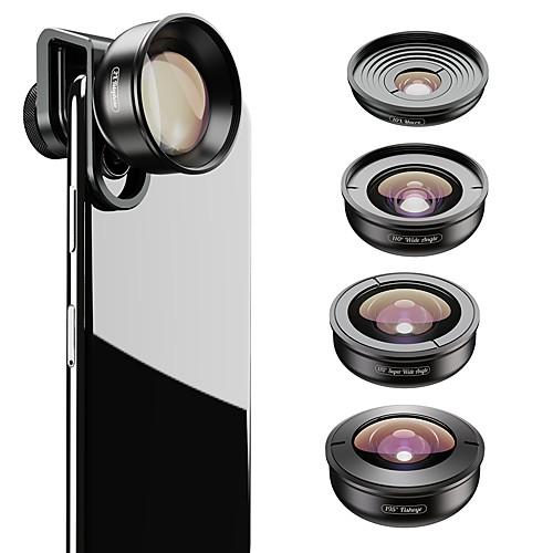 Объектив для мобильного телефона Объектив фиш-ай / Длиннофокусный объектив / Широкоугольный объектив стекло / Алюминиевый сплав 2X 37 mm 0.01 m 195 ° Новый дизайн / Cool фото
