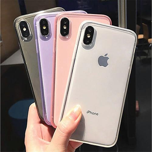 Кейс для Назначение Apple iPhone XR / iPhone XS Max Матовое / Прозрачный Кейс на заднюю панель Однотонный Мягкий ТПУ для iPhone XS / iPhone XR / iPhone XS Max фото
