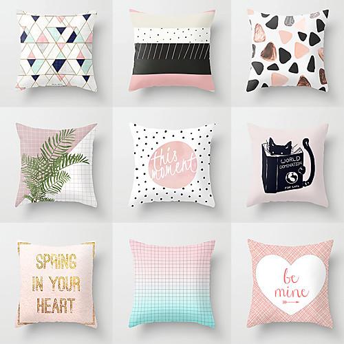 1 штук Полиэстер Наволочка, геометрический Лист Мода Modern Бросить подушку