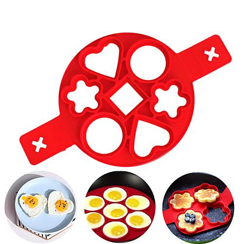 1 шт. Идеальный блин создатель силиконовые формы для блинов для детей мини-легкий блин антипригарное сердце яйцо кольцо чайник кухонные инструменты фото