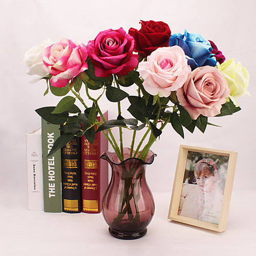 Искусственные Цветы 1 Филиал Односпальный комплект (Ш 150 x Д 200 см) Простой стиль Modern Розы Букеты на стол