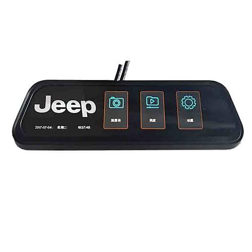 1080p двойное объективное зеркало заднего вида автомобильный видеорегистратор широкоугольный 10-дюймовый ips-видеорегистратор с ночным видением / g-сенсором / автомобильным видеомагнитофоном фото