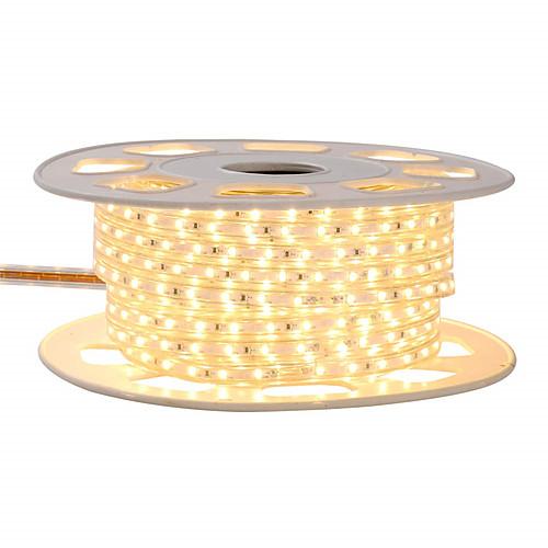 KWB 4 м блеск декор светодиодные полосы света 220 В гибкие водонепроницаемые веревочные светильники 5050 240 светодиодов для внутреннего и наружного освещения коммерческих коммерческих освещения фото