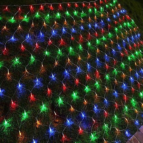 1,5 м гирлянды 96 светодиодов RGB белый синий водонепроницаемый творческий вечер 110-120 В 1 комплект фото
