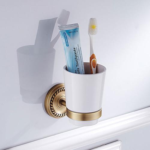 Держатель для зубных щеток Новый дизайн Античный Латунь / Керамика 6шт - Гостиничная ванна На стену