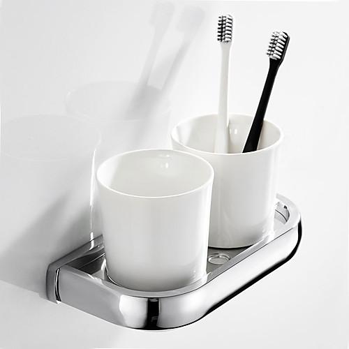 Держатель для зубных щеток Креатив Современный / Modern Латунь / Керамика 1шт На стену